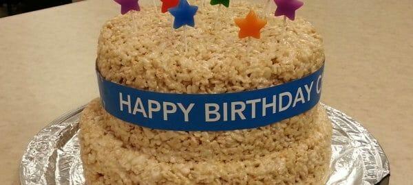 Copywriter Chris Rice Krispie Treat Cake